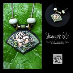 STEAMPUNK RELIC chow necklace with changeable chain