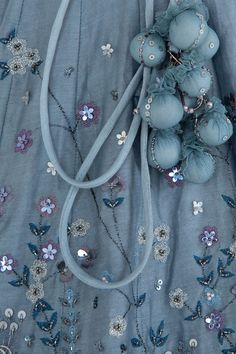 Ice blue embroidered lehenga set available only at Pernia's Pop Up Shop. Dress Neck Designs, Blouse Designs, Zardozi Embroidery, Indian Tunic, Royal Clothing, Frocks For Girls, Lehenga Designs, Pakistani Dress Design, Indian Wedding Outfits
