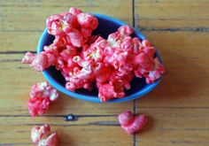 Pink Popcorn Recipe for Valentines Day. ♥