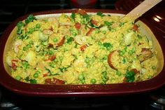 I made & blogged 'Speedy Shrimp & Sausage Paella' from the Pampered Chef Deep Covered Baker recipe book.  It was delicious!