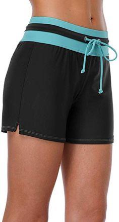 f64398b1c6c beautyin Sporty Swimsuit Bottoms for Womens Boy Short Bathing Suit Bottoms  Boyleg XL