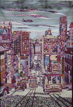 Quilt Art San Francisco Art Quilt by peacelovefabric on Etsy, $4800.00