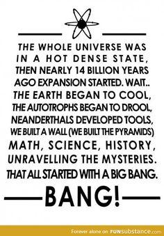 This is the big bang theory