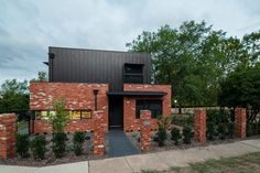 Box House by Paul Tilse Architects - Canberra Extension Architecture - The Local Project Brick House Designs, Modern House Design, Brick Architecture, Contemporary Architecture, Home Structure, Steel Structure, Recycled Brick, Exterior Cladding, Box Houses