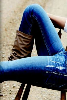 casual boots and jeans