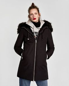 Image 2 of WATER REPELLENT PARKA WITH HOOD from Zara