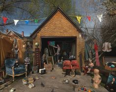 Julie Blackmon Garage Sale (2013)  If I drove by a G. SALE like this I would die!!
