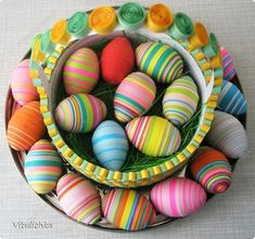 easter basket and eggs tutorial