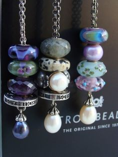 Beautiful Trollbeads necklaces.
