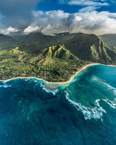 Kauai from the Air Hawaii US |    Marcus Bloss >>> Check out our site at deftnomad.com for travel hacks & tips