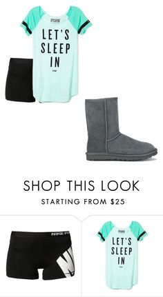 """""""Untitled #102"""" by koorbusche ❤ liked on Polyvore featuring NIKE, Victoria's Secret PINK and UGG Australia"""