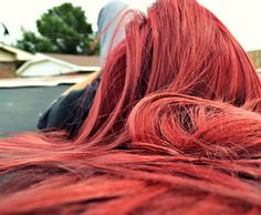 Hair is colourful shared by Just breath on We Heart It Bright Red Hair, Different Hair Colors, Girls With Red Hair, Hair Color And Cut, Dye My Hair, Hair Blog, Crazy Hair, Love Hair, About Hair