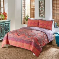 Boho Boutique Nadia 3 Piece King Size Reversible Comforter Set (As Is Item) Piece - King), Blue - Products - Boho Bedding Bohemian Comforter Sets, Hippie Bedding, Blue Comforter Sets, Boho Bedding, Duvet Bedding, Duvet Sets, Duvet Cover Sets, Luxury Bedding, Paisley Bedding