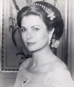 Princess Grace of Monaco wearing a lovely understated tiara.