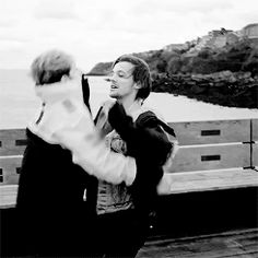 Niall and Louis chest bump! [gif]. You have no idea how much I'm looking forward to this video!!!!!