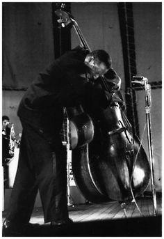 "Aaron Bell ""The Duke Ellington Group"", Randall's Island Jazz Festival, 1960  photo by Henri Dauman"