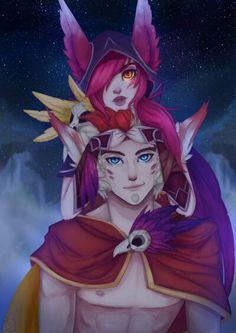 ❤•Xayah and Rakan•❤  - League of legends