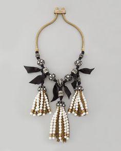 Y1K17 Lanvin Pearly-Tassel Necklace