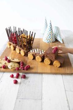 Gâteau d'anniversaire train au chocolat - Biodelices.fr