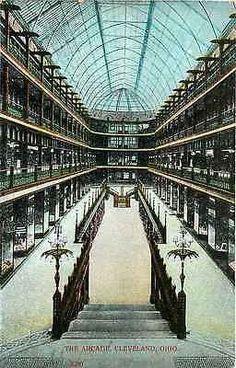 Cleveland Ohio OH 1908 The Arcade Interior Shops Antique Vintage Postcard - Moodys Vintage Postcards - 1