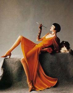 "maliciousglamour: "" Romance, Decadence Harper's Bazaar, August 1993 Photographer: Mario Testino Model: Nadja Auermann """