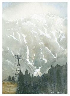 Watercolor by Masato Watanabe