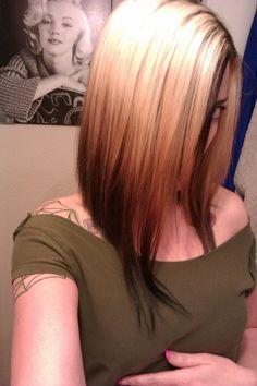 dark blonde reverse ombre - Google Search