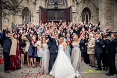 Cheering crowd stands outside of church after ceremony #Michiganwedding #Michiganwedding #Chicagowedding #MikeStaffProductions #wedding #reception #weddingphotography #weddingdj #weddingvideography #wedding #photos #wedding #pictures #ideas #planning #DJ #photography #bride #groom