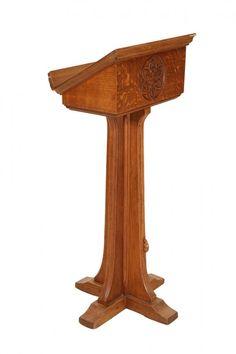 Robert Thompson of Kilburn: A Mouseman oak lectern : Lot 764