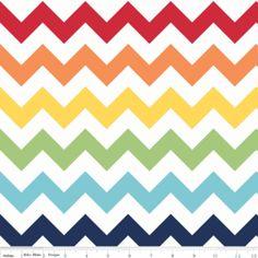 Riley Blake Designs - Large Chevron - Large Chevron in Rainbow- Hawthorn Threads $9.25 per yard