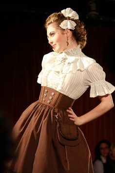 steampunk wear for women | Tips for Women on Steampunk Fashion - I adore this simple elegant look