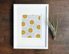Retro Dandelion Print - Burnt Orange 8x10 Wall Decor - Mid Century Living Room Art.  $24