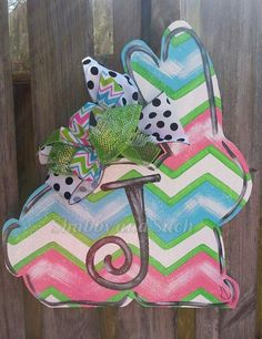 NEW DESIGN PERSONALIZED Bunny Rabbit Door by shabbyandsuchdesigns, $40.00