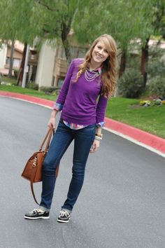 A Devine Life: Pop of Plaid {I'm loving all her looks lately!}