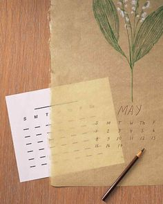 The Art of Botanical Rubbings: Plant Calendar