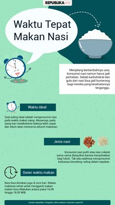 waktu tepat atau baik makan nasi Healthy Beauty, Health And Beauty, Health And Wellness, Health Fitness, Herbal Remedies, Health Remedies, Natural Remedies, Health Resources, Health Education