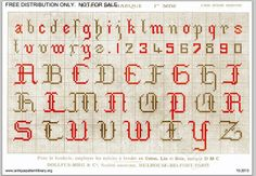 Page 4 of DMC Point de Marque 1ere serie, c. 1890. Found at the antique pattern library.  Alphabet, lower and upper case, numbers.