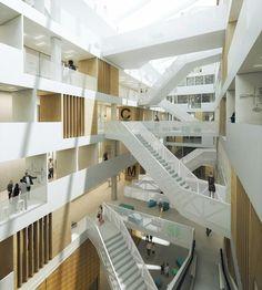 NEW EDUCATIONAL FACILITY AT THE UNIVERSITY UTRECHT by Schmidt Hammer Lassen Architects  http://www.archello.com/en/project/new-educational-facility-university-applied-sciences-utrecht?utm_content=buffer8af18&utm_medium=social&utm_source=pinterest.com&utm_campaign=buffer