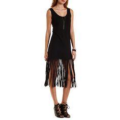 Cotton Fringe Tank Dress
