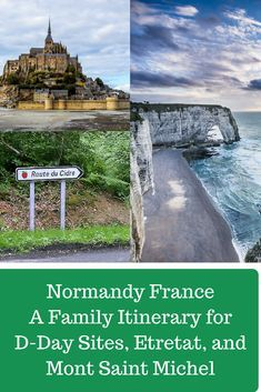 Itinerary for Normandy France, Etretat France, d-day sites, Mont Saint Michel with family and on a budget france Normandy Tours, Normandy France, Beaches Of Normandy, Normandy Beach, Etretat France, Giverny France, Paris Travel, France Travel, Le Logis