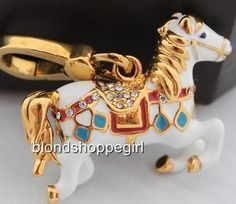 NWT Juicy Couture Rare CAROUSEL HORSE Charm Carnival Animal Tagged Box Authentic