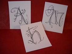Lettering Lisa Engelbrecht Zentangle  Zenspiration doodle dangles monogram illuminated