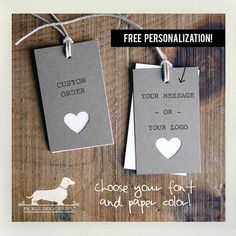 Natural Heart. Personalized Rectangle Gift Tags by PickleDogDesign, $12.50