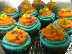 Boys birthday cupcake