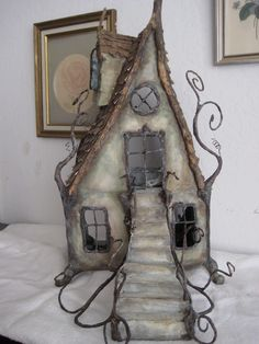 winter twig house...found under the brambles at the bottom of the garden...