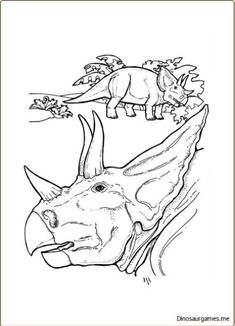 This Is New Triceratops Dinosaur 2 Coloring Page You Can Print It Out Or Color
