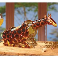 Decobreeze Home Holiday Decoration Wine Bottle Holder-Giraffe * Read more reviews of the product by visiting the link on the image.