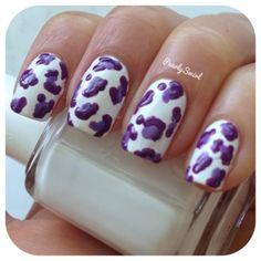 Pearly Swirl: Purple Leopard