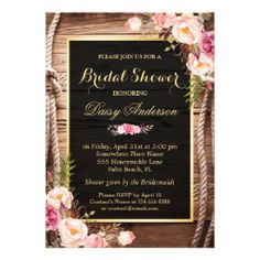 Rustic Country Bridal Shower Wood Knot Floral Wrap Card #rusticbridalshowerinvitations #countrybridalshowerinvitations Wedding Party Invites, Country Wedding Invitations, Beautiful Wedding Invitations, Rustic Invitations, Floral Invitation, Bridal Shower Invitations, Invitation Suite, Wedding Cards, Wedding Rsvp