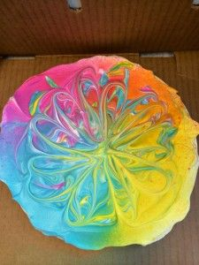 SO COOL!!! 1.  spread shaving cream on paper plate.... 2. Spray with Dylusion or other ink sprays..... 3. Swirl inks with chop stix or other tool 4. Press card, paper etc on shaving cream..... 5. Wipe off excess.... WONDERFUL MARBLED PAPER EFFECT!